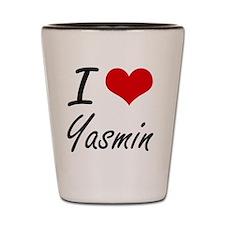 I Love Yasmin artistic design Shot Glass