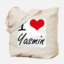 I Love Yasmin artistic design Tote Bag