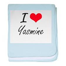 I Love Yasmine artistic design baby blanket