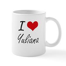 I Love Yuliana artistic design Mugs