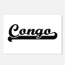 Congo Classic Retro Desig Postcards (Package of 8)