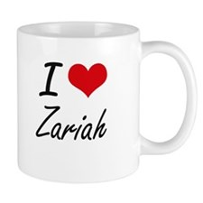 I Love Zariah artistic design Mugs