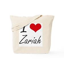 I Love Zariah artistic design Tote Bag