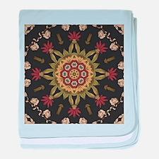 hipster vintage floral mandala baby blanket