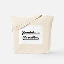 Dominican Republic Classic Retro Design Tote Bag