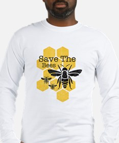 Honeycomb Save The Bees Long Sleeve T-Shirt