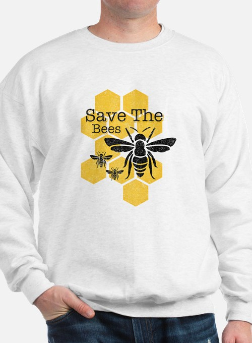 Honeycomb Save The Bees Sweatshirt