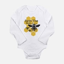 Honeycomb Save The Bee Long Sleeve Infant Bodysuit