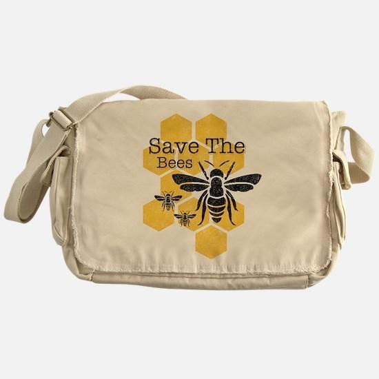 Honeycomb Save The Bees Messenger Bag