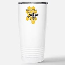 Honeycomb Save The Bees Travel Mug