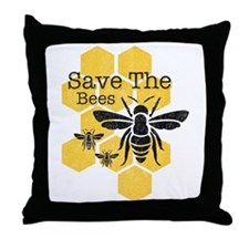 Honeycomb Save The Bees Throw Pillow