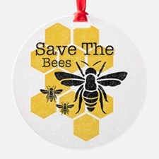 Honeycomb Save The Bees Ornament