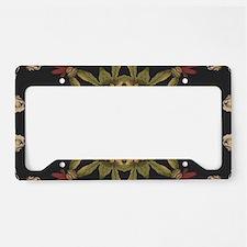 hipster vintage floral mandal License Plate Holder