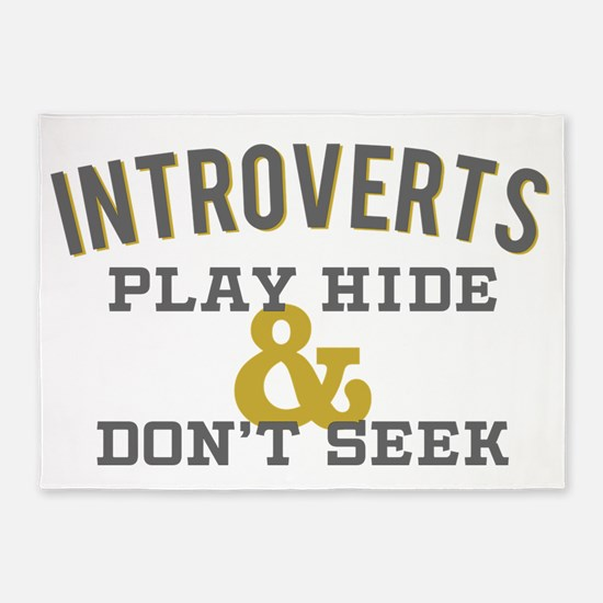 Introverts Hide and Don't Seek 5'x7'Area Rug