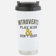 Introverts Hide and Don Stainless Steel Travel Mug