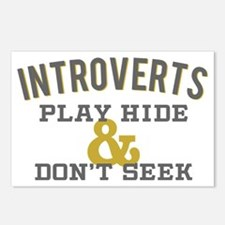 Introverts Hide and Don't Postcards (Package of 8)