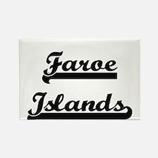 Faroe Islands Classic Retro Design Magnets