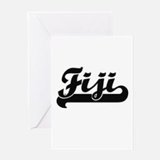 Fiji Classic Retro Design Greeting Cards