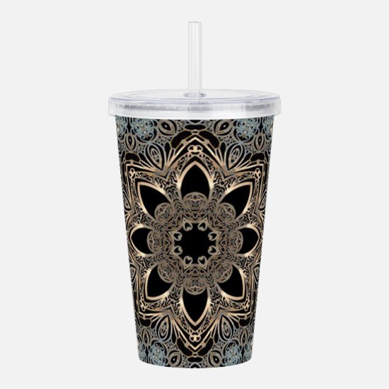 floral mandala hipster Acrylic Double-wall Tumbler