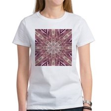 girly pink lace mandala floral T-Shirt