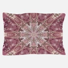 girly pink lace mandala floral Pillow Case