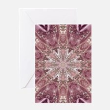 girly pink lace mandala floral Greeting Cards