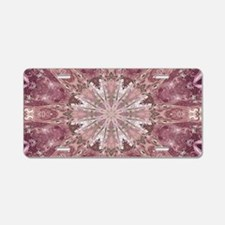 girly pink lace mandala flo Aluminum License Plate