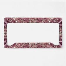 girly pink lace mandala flora License Plate Holder