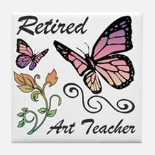 Retired Art Teacher Tile Coaster