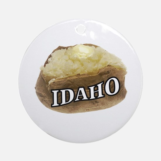 baked potato Idaho Round Ornament