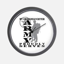 Granddaughter Proudly Serves 2 - ARMY Wall Clock