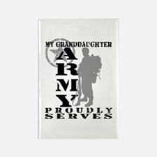 Granddaughter Proudly Serves 2 - ARMY Rectangle Ma