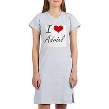 I Love Adriel Women's Nightshirt