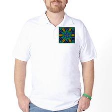 hipster peacock green mandala T-Shirt