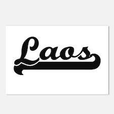 Laos Classic Retro Design Postcards (Package of 8)