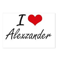 I Love Alexzander Postcards (Package of 8)