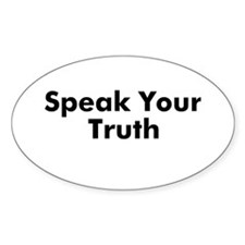 Speak Your Truth Oval Decal