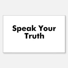 Speak Your Truth Rectangle Decal