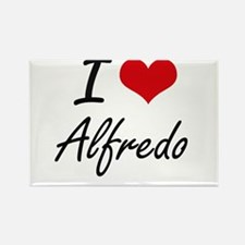 I Love Alfredo Magnets