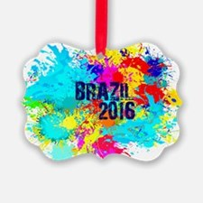 Brazil 2016 Burst Ornament