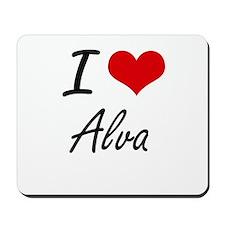 I Love Alva Mousepad