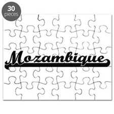 Mozambique Classic Retro Design Puzzle