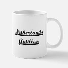 Netherlands Antilles Classic Retro Design Mugs