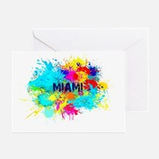 MIAMI BURST Greeting Card