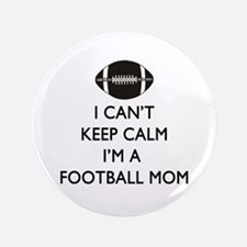 Keep Calm Football Mom Button