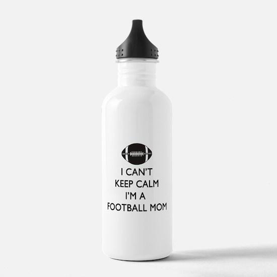 Keep Calm Football Mom Water Bottle