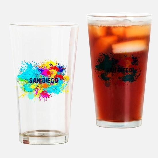 SAN DIEGO BURST Drinking Glass