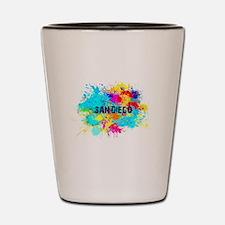 SAN DIEGO BURST Shot Glass