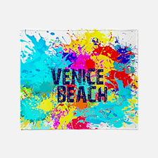 VENICE BEACH BURST Throw Blanket