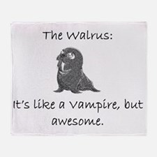 Walrus Throw Blanket